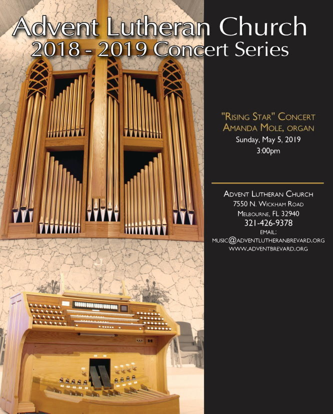 Advent Lutheran Concert Poster